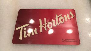 Tim hortons Gift card ($25)