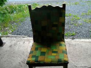 2 ANTIQUE HANDMADE CHAIRS WITH ORIGINAL MATERIAL