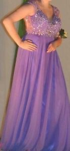 2 Purple Prom Dresses for Sale