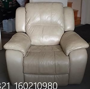 All Leather Sofa and Chair