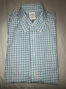 Brooks Brothers - Regent Fit Teal Check Sport Shirt