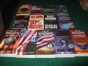 Dale brown books $1 each or $10 for the lot