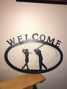Golf welcome sign