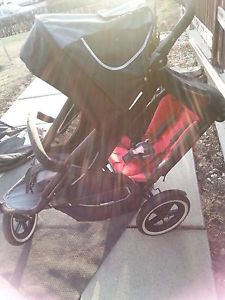 Phil & Teds Sport double/single stroller w car seat & more