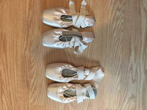 Pointe shoes All broke in:) have a size 6 and 6.5 in women's
