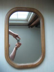 Rectangular Oak Frame Mirror