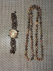 STONE necklace + bracelet - $10 each or BOTH for $15