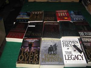 Stephen Frey books $1 each or $10 for the lot