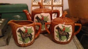 Vintage Canada Mounties RCMP Souvenir Tea Set