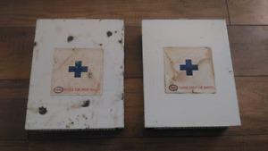 Vintage ESSO Gas Station First Aid Kits