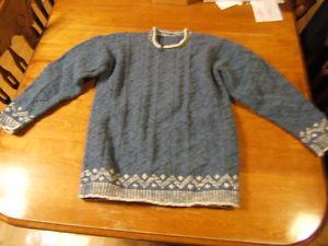 hand knit wool sweaters - Briggs & Little yarn