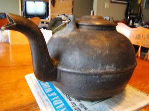 large cast iron tea kettle