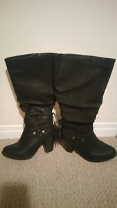 wide calf boots size 8