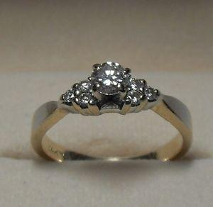 14kt yellow Gold.50tcw Diamond Engagement Ring - Size 6.25