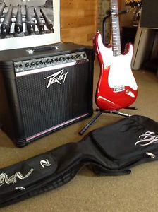 2 Guitars, Peavey Amp & accessories