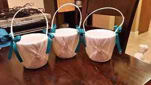3 Flower Girl Baskets - Wedding