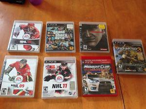 7 PS3 games for sale - 10$ each