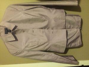 Anne Taylor 100% Silk Purple Pant Suit