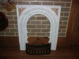 Antique Victorian fireplace insert and grate