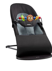 Baby Bjorn bouncer seat with wooden toy