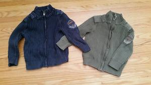 Boys cotton cardigans EUC size 1.5-2Y (fit 12 month up to