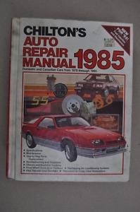 Chilton's Auto Repair Manual