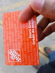 Gift cards of The Home Depot worth $606