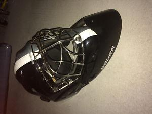 Goalie helmet ice hockey and neck guard