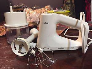 Hand Mixer, Immersion Blender, Food Chopper