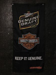 Harley Davidson / Miller Genuine Draft Flag