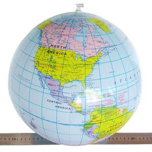 Inflatable World Globe Teach Education Geography Toy Map