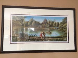 "Limited Edition Framed Rod Hann ""the duck pond"""