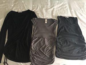 Lot of 3 maternity nursing shirts, size XS/Small