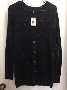New Size Small (-Med) Black w/ Coloured Specks Cardigan