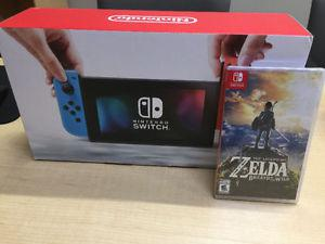 *New in box* Nintendo Switch with legend of Zelda