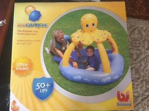 New inflatable UV OCTOPUS CANOPY CHILDS POOL