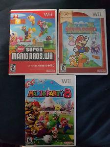 Nintendo Wii Games (Mario, Mario Party 8, Paper Mario)