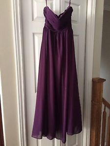 Purple formal dress size 6 mint condition