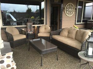 Rattan wicker patio set
