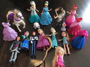 Selection of Frozen, Disney princess and Polly Pocket