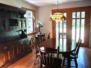 Solid Pine Dining Room Suite