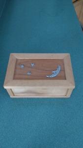 Solid Pine Jewelry Box