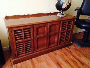 """Vintage Zenith Radio Cabinet, 50"""" x 17"""" x 26.5"""""""