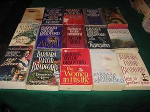 barbara taylor bradford books $1 each or $10 for the lot