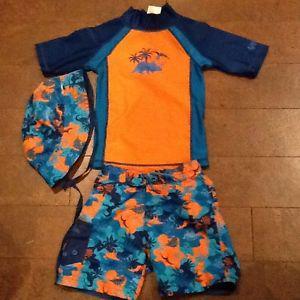 2t 2T toddler swim skin swim suit with dinosaurs