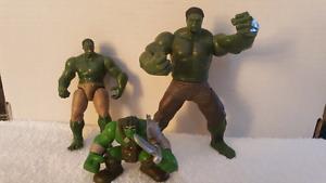 3 Marvel Hulk action figures