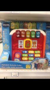 Alphabet activity cube