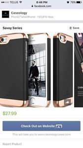 Black and rose gold iPhone 6 Plus or iPhone 6s Plus case