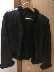 Danier black leather jacket