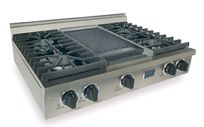 Five Star 36 in pro style cooktop with French griddle